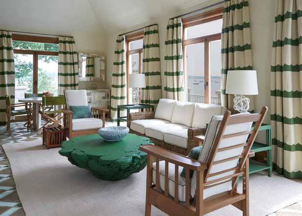 Room Of The Day: Nautical Living Area Inspired By Green