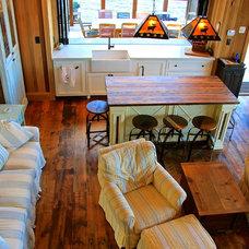 Beach Style Living Room by Kris Brigden Design Co., North Muskoka House Ltd.