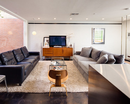 Two different couches houzz - Living rooms with different couches ...