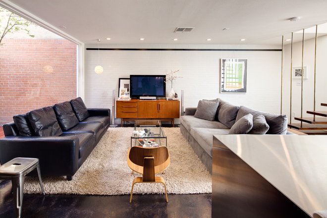Modern Living Room by A.GRUPPO Architects - San Marcos