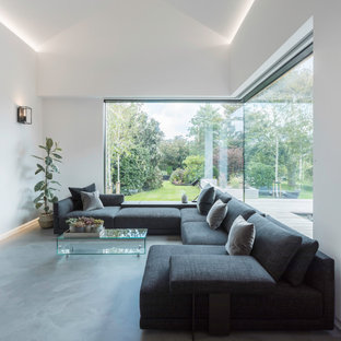 Inspiration for a modern living room in Channel Islands.