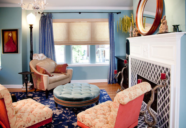 Eclectic Living Room by Lisa Wolfe Design, Ltd