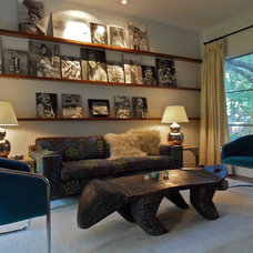 Midcentury Living Room by Carrie Roby Interiors, LLC
