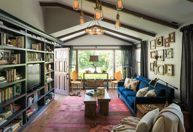 Eclectic Living Room by Ggem Design Co.