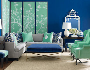 Bold and Beautiful Living Room