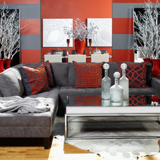 Eclectic Living Room by Z Gallerie