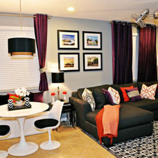 Contemporary Living Room by Nicole White Designs Inc