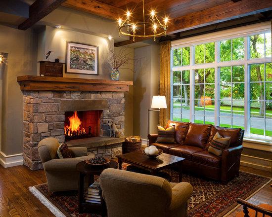 Rock Fireplace Mantel Houzz