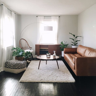 75 Most Popular Scandinavian Living Room With Yellow Walls