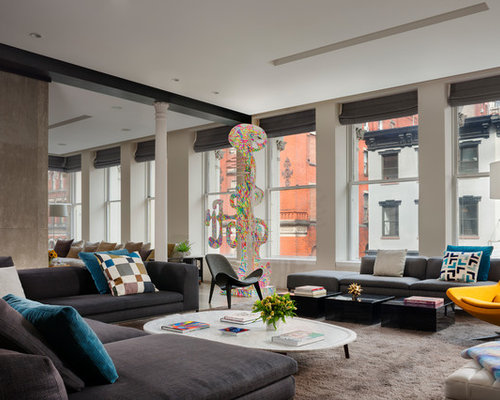 best contemporary living room design ideas  remodel pictures  houzz, Home designs