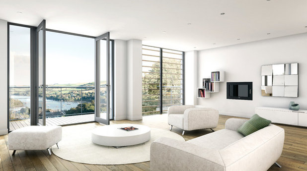Contemporary Living Room by BBH Chartered Architects Ltd