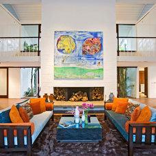 Midcentury Living Room by Hayne Interior Design