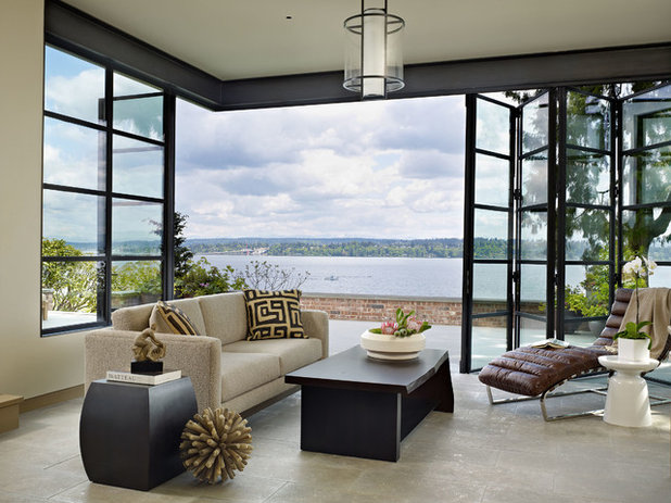 Contemporary Living Room by DeForest Architects