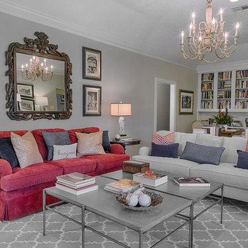 Book loving Francophile living room