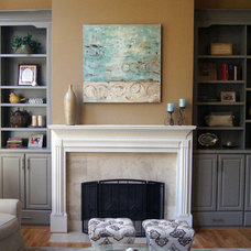 Traditional Living Room by Creative Cabinets and Faux Finishes. LLC