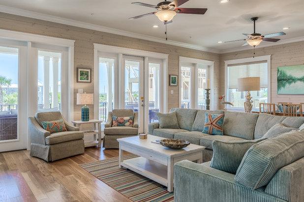 Beach Style Living Room by Erin E. Kaiser, Kaiser Real Estate Sales, Inc