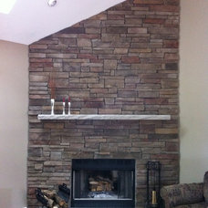 Traditional Living Room by Brighton Stone & Fireplace, Inc.