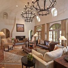 Mediterranean Living Room by Thompson Custom Homes