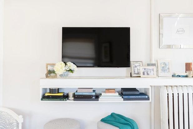 Transitional Living Room by Liz Miller Interiors