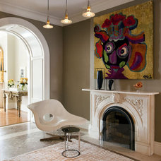 Eclectic Living Room by Ruhl Walker Architects