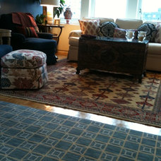 Eclectic Living Room by Bradford's Rug Gallery