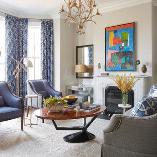 75 Transitional Living Room Design Ideas - Stylish Transitional ...