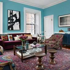 eclectic living room by Kati Curtis Design