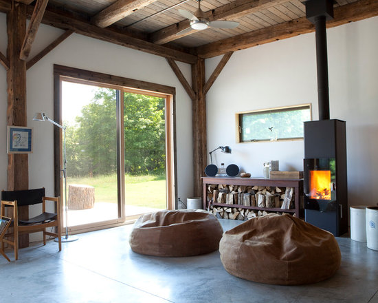 Free Standing Wood Burning Fireplace Houzz
