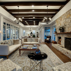 Traditional Living Room by Vibe Design Group