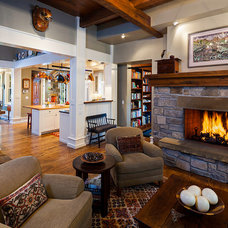 Craftsman Living Room by Karl Neumann Photography