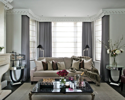 gray curtains | houzz