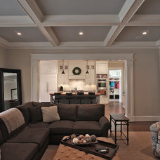 Traditional Living Room by Finecraft Contractors, Inc.