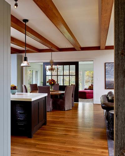 Houzz Farmhouse Living Room: Houzz Tour: Nestling Into The Rural Pennsylvania Landscape