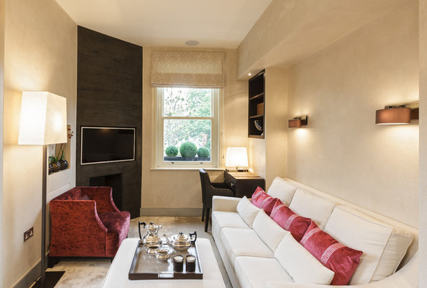 Transitional Living Room by Keir Townsend Interiors