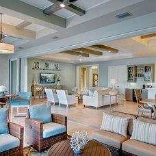Beach Style Living Room by Wyman Stokes Builder LLC