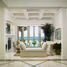 Tropical Living Room by Brantley Photography