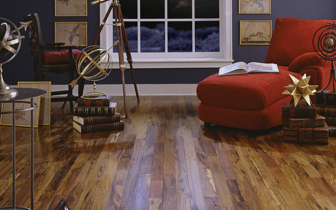 Contemporary Living Room by BR111 Hardwood Flooring