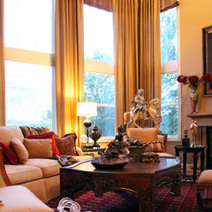 mediterranean living room by J. Hettinger Interiors