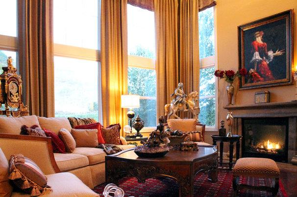 Mediterranean Living Room by J. Hettinger Interiors