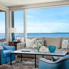 Beach Style Living Room by Lori Gentile Interior Design