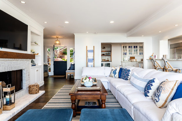 Beach Style Living Room by Courtney Thomas Design