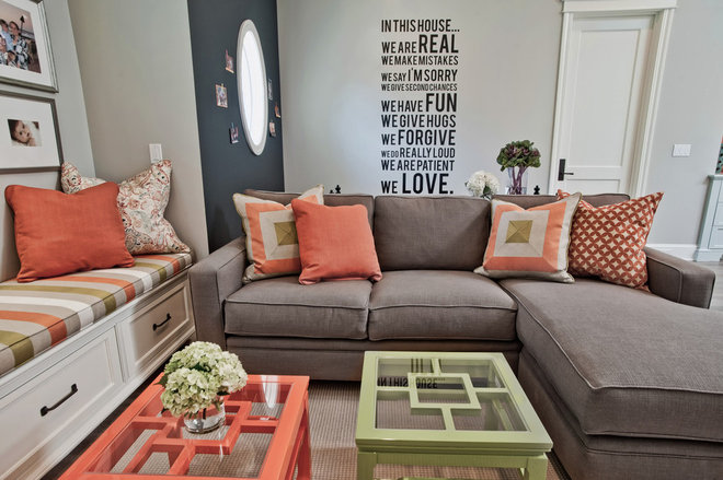 Contemporary Living Room by Jill Wolff Interior Design