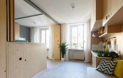 Mini und maßgefertigt: 34qm-Apartment mit drei Räumen in einem