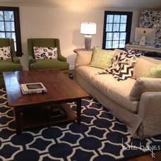 Traditional Living Room by Kate Hayes Design