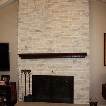 Brick Fireplace Transformation