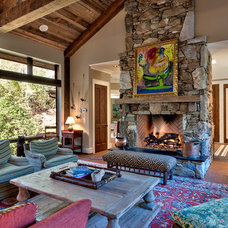 Rustic Family Room by Platt Architecture, PA