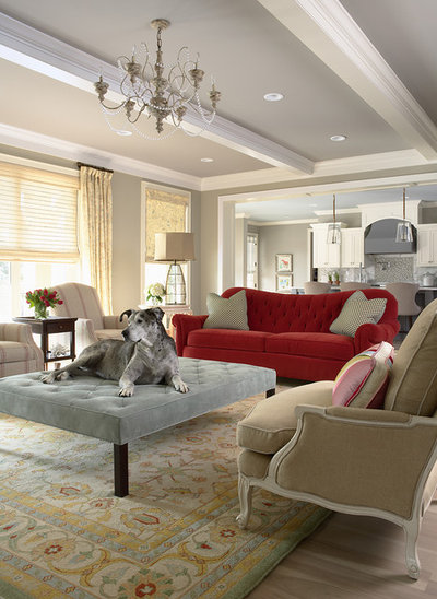 Traditional Living Room by Martha O'Hara Interiors