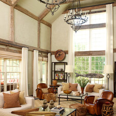 Traditional Living Room by David Scott Interiors