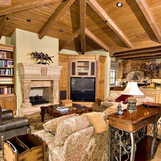 Mediterranean Living Room by Lance DeGeorge, Assoc. AIA
