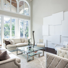 Transitional Living Room by Frankel Building Group